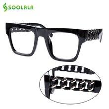 SOOLALA Square แว่นตาอ่านผู้หญิงผู้ชายพิเศษแขนล้างเลนส์ Presbyopia แว่นตาอ่านหนังสือ 0.5 ถึง 5.0