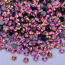 JUNAO 500pc 5 мм золото розовый стикер АВ цветок горный хрусталь плоской задней смолы круглые каменные лица ногтей Кристалл стразы для украшения одежды