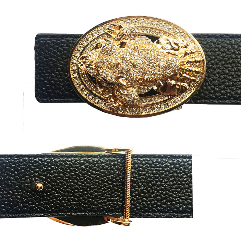 Traditional Animal Icon Buckle For Belt Metal Accessories For Men's Belts In Color Gold And Sliver
