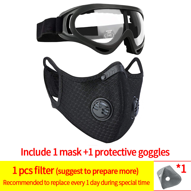1mask and 1goggles