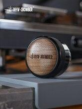 58.35mm kahve sabotaj ayarlanabilir Fan/düz taban ceviz ahşap saplı Espresso tozu çekiç kahve aksesuarları Barista Cafe araçları