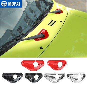 MOPAI Styling Mouldings Car Front Windshield Wiper Base Decoration Trim Stickers for Suzuki Jimny 2019+ Exterior Accessories