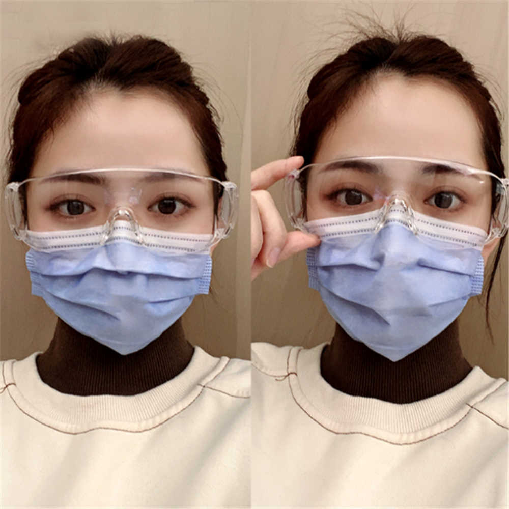 Protective Glasses Anti Virus Anti-Fog Anti Windproof Anti Dust Saliva Transparent Experiment Riding Goggles Eye Mask Protection