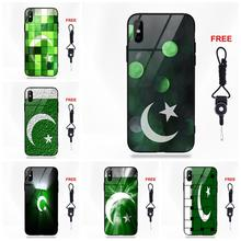 Retail Printed Pakistan Flag For Apple iPhone X XS Max XR 5 5C 5S SE 6 6S 7 8 Plus Soft TPU Frame+Tempered Glass Cell Bags