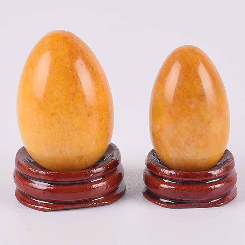 Yoni Egg Natural Stone Yellow Jade Eggs Kegel Exercise Tools Crystal Quartz Undrill Ball Pelvic Floor Muscle Vagina Health Care