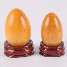 Yoni Egg Natural Stone Yellow Jade Eggs Kegel Exercise Tools Crystal Quartz Undrill Ball Pelvic Floo