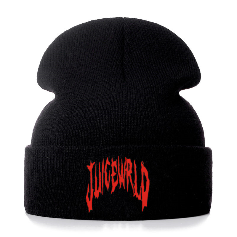 High Quality Juice Wrld 999 Embroidery Casual Beanies For Men Women Fashion Knitted Winter Hat Hip-hop Skullies Hat Dropshipping