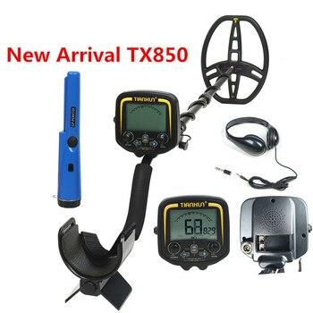 цена на Professional Underground Metal Detector TX-850 Deep Search Gold Detector LCD Treasure Hunter Finder Scanner Searching Seeker