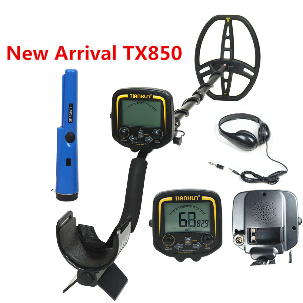 Professional Underground Metal Detector TX-850 Deep Search Gold Pin Pointer LCD Treasure Hunter Finder Scanner Searching Seeker