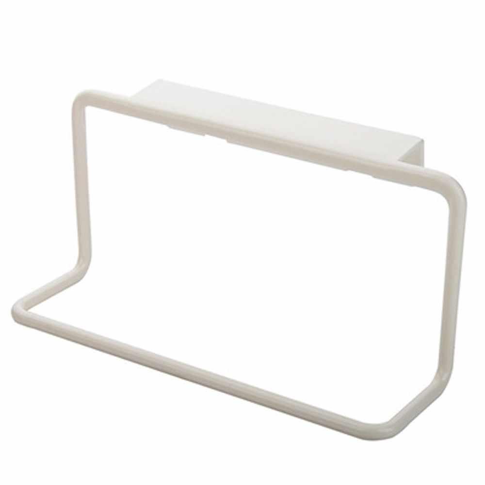 キッチンタオル 1 PC ラックぶら下げホルダー食器棚キャビネットドアバックハンガータオルスポンジホルダー収納ラック浴室 d3