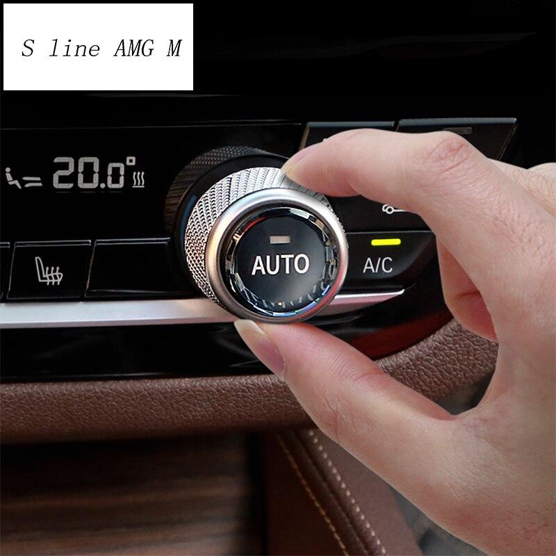 Автомобильный Стайлинг для BMW 5 7 серии G30 G38 6gt G32 X3 G01 G08 X4 G02 Кристалл переключатель кондиционера кнопка замены наклейка отделка