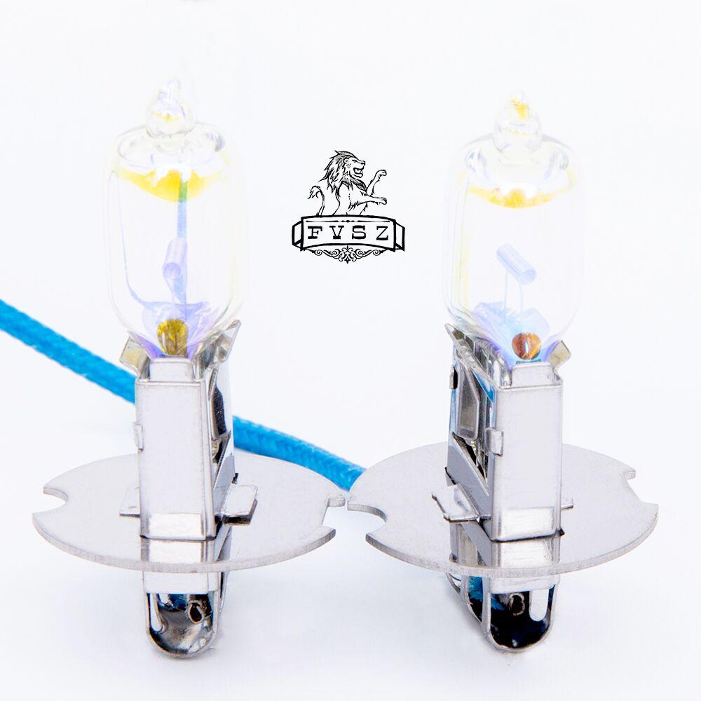 2Pcs H3 12V 55 K 3000 W Car fog lâmpadas Luz Amarela Lâmpadas Neve e chuva Super Brilhante frete grátis