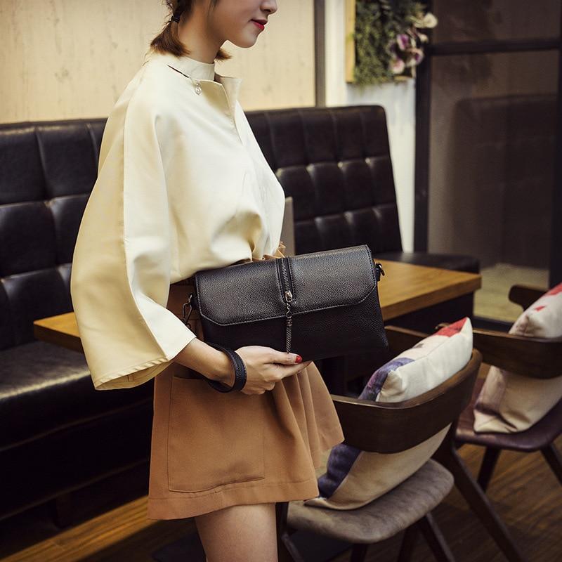 Embragues mujeres 2019 bolsos de mensajero para mujeres bolsos de hombro negros moda alta calidad bolso cruzado de cuero PU para niña
