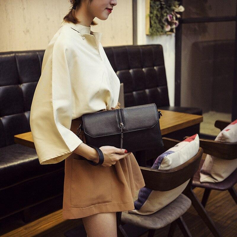 Pochettes femmes 2019 sacs de messager pour femmes noir sacs à bandoulière mode haute qualité en cuir pu sacs à bandoulière pour fille
