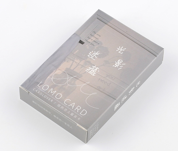 52mm*80mm Light Shadow Paper Greeting Card Lomo Card(1pack=28pieces)