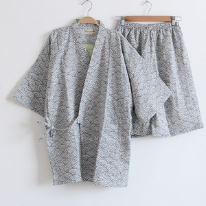 2020 Summer Man Pajamas Sets For Men Japanese Traditional Kimono Yukata Tops Shorts Clothing Suit Samurai Male Sleepwear Bathing