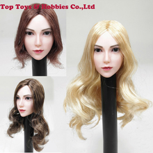 SGTOYS S-08 1/6 Scale Asian Beauty Female Blonde Hair young Girl Head Sculpt Fit 12 PH Female Figure Body For fans collection sgtoys s 09 1 6 scale female figure accessory woman sexy double split long skirt set with high heels