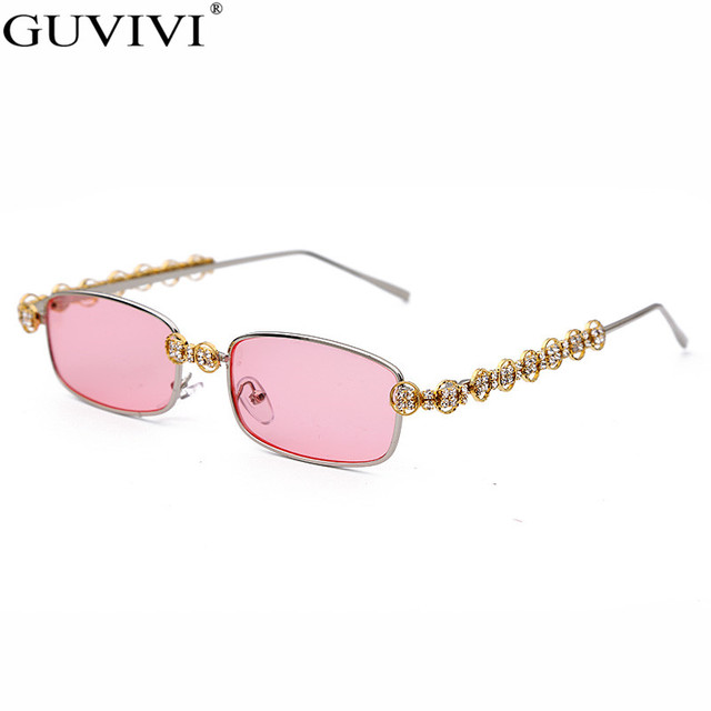 Rectangle Rhinestone Sunglasses Women Fashion Steampunk Diamond Sun Glasses Crystal Vintage Shades Eyeglasses UV400 Oculos 6