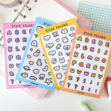 Simple Cute Letter Animals Label Sticker Cell Phone Case Laptop creative DIY Sealing Decorative Stickers Scrapbooking Stationery