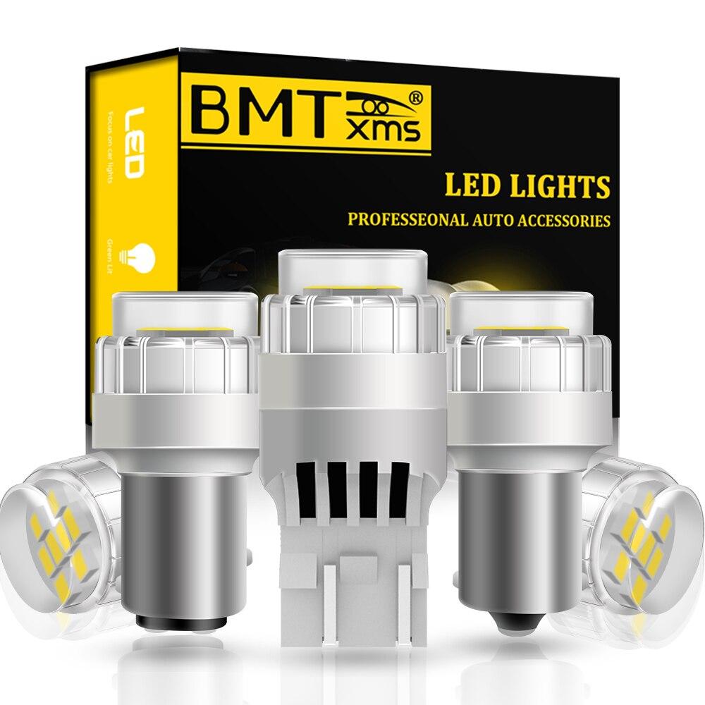 BMTxms-bombilla LED Canbus P21W 1156 BA15S para coche, luces LED BAY15D T20 2010 W21W T25 DRL, para Skoda Superb Octavia 2 FL 2013-7443
