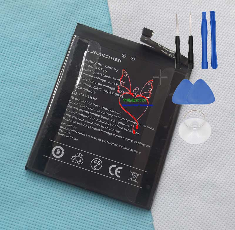 4150mAh Battery For UMI Umidigi A5 Pro Mobile Phone Replacement Accumulator AKKU ACCU PIL Batteria For UMI Umidigi A5 Pro