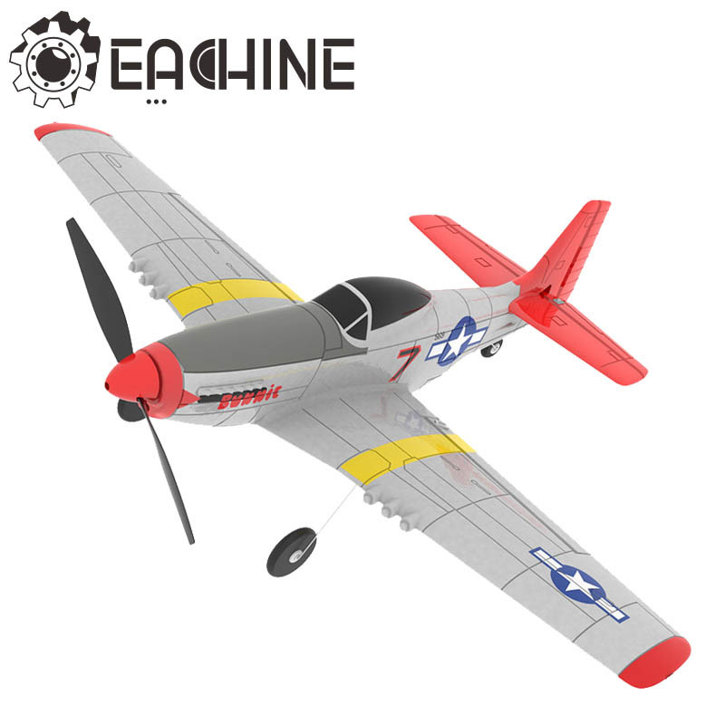 Eachine Mini P 51D EPP 400mm Wingspan 2.4G 6 Axis Remote Control RC Airplane Trainer Fixed Wing RTF One Key Return for Beginner|RC Airplanes|   - AliExpress