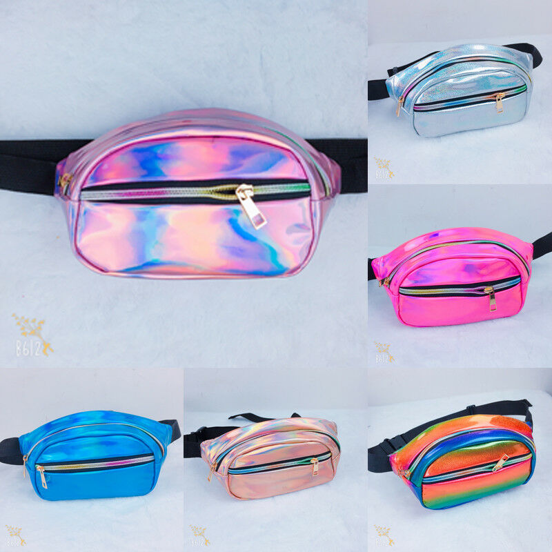 Women Men Fanny Pack Clear Glitter Waist Belt Bum Bag Pouch Hip Purse Travel Bag Crossbody Wallet Belt Travel Shoulder bag 4.7