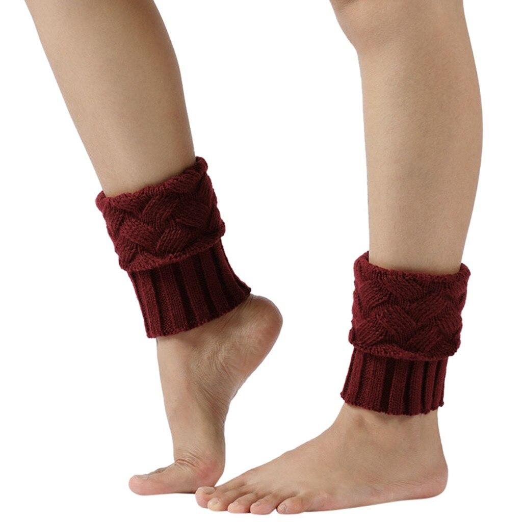 New Women Ladies Bohemian Crochet Knit Leg Warmers Knee Thicken Legging Socks