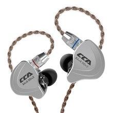 Cca C10 4ba + 1dd Гибридный в ухо наушники Hifi Dj монитор Запуск спортивные 5 привод гарнитура Шум шумоподавления наушники