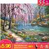 GATYZTORY DIY Paint By Numbers For Adults Children  HandPainted Oil Painting Landscape Picture Paint Home Decoration Custom Gift
