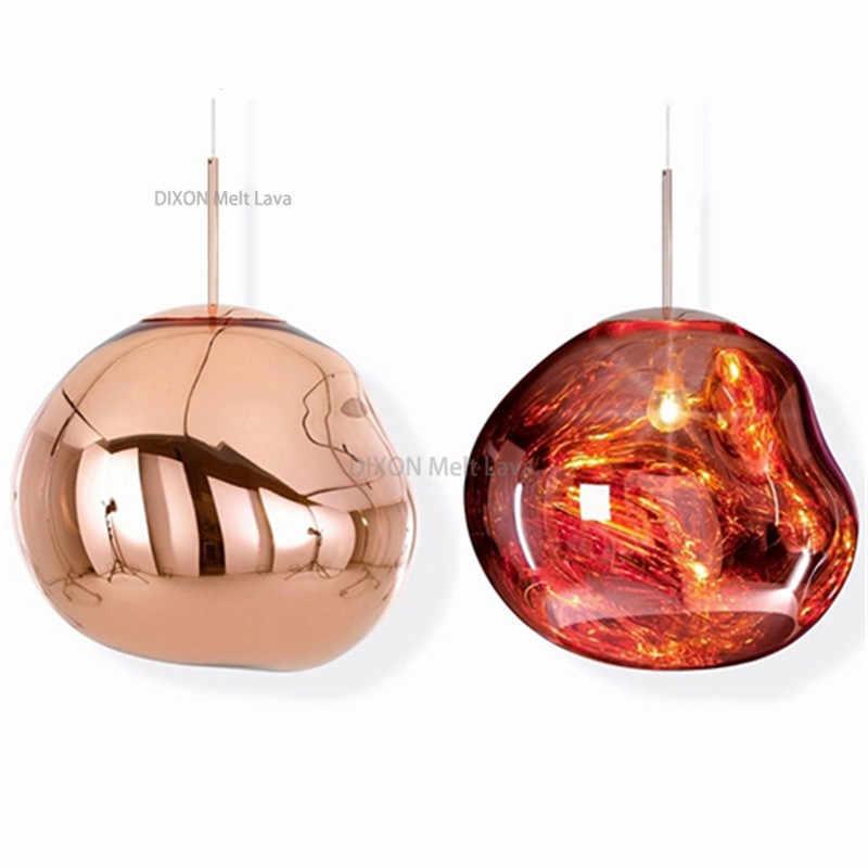 Moderne LED Glas Ball Anhänger Lampen Nordic Wohnzimmer DIXON Schmelzen Lava Hanglamp Licht Fixure Schmelzen Lava Hängen Lampen