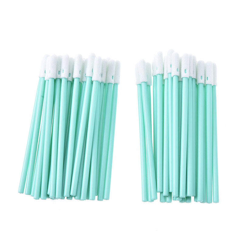 Hot Total 100 Pcs Foam Tip Cleaning Swabs Sponge Stick Practical Good Quality