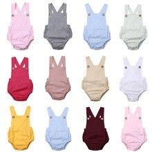 Imcute 11 estilos do bebê recém-nascido infantil meninos meninas macacão verão algodão sem mangas suspender macacões roupas de algodão
