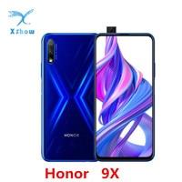 Honor 9X 6GB RAM 64GB ROM teléfono celular Kirin 810 Octa Core 6,59 pulgadas Android 9,0 elevar la cámara 48.0MP 4000mAh
