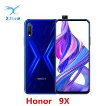 Honor móvil 9X, 4GB RAM, 64GB ROM, Kirin 810, Octa Core, 6,59 pulgadas, Android 9,0, cámara elevada, 48.0MP, 4000mAh