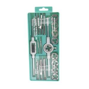 Image 2 - Hampton 20 adet/31 adet metrik konu kılavuz ve pafta seti alaşımlı çelik vida dokunun matkap ucu M1.0 M12 fiş musluklar anahtarı ölür el aletleri