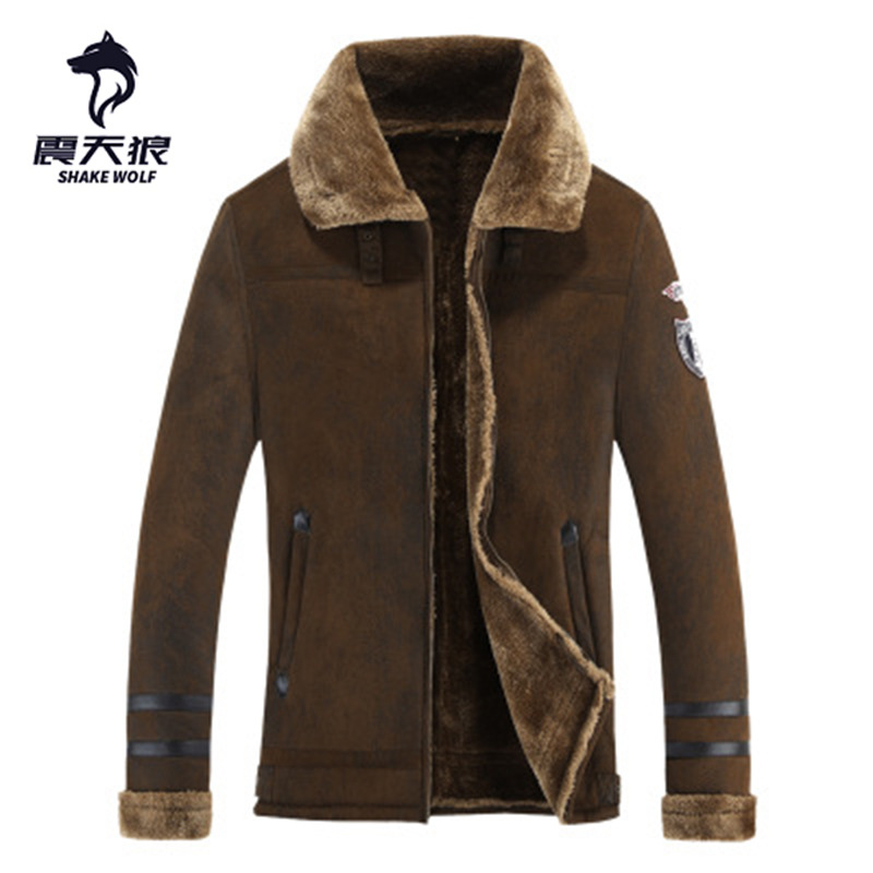 Spécifiquement pour le commerce extérieur fourrure de wapiti fourrure agneaux de velours laine nouveau Style hommes manteau de fourrure fabricants Direct Se