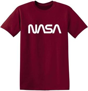 Przestrzeń robaka NASA grafika nowość zabawna koszulka M Garnet tanie i dobre opinie Podróż TR (pochodzenie) Cztery pory roku Z okrągłym kołnierzykiem SHORT normal COTTON Na co dzień Znak