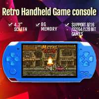 Handheld Retro Game Console With 4.3 inch LCD Portable Mini Video Game Player Support 8/16/32/64/128 Bit GBA/PS1/NES/SFC Games