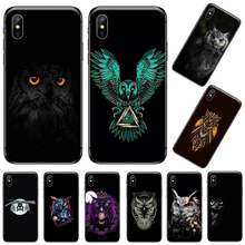 Uil Hot Leuke Dier Diy Geschilderd Bling Phone Case Voor Iphone 5 5 5s 5c Se 6 6 S 7 8 Plus X Xs Xr 11 Pro Max Coque Shell(China)