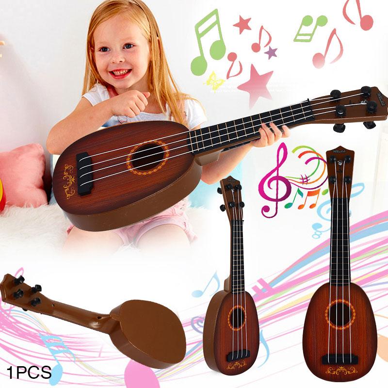 41cm Ukelele Guitar Toys Children Wood Grain Educational Musical Gifts