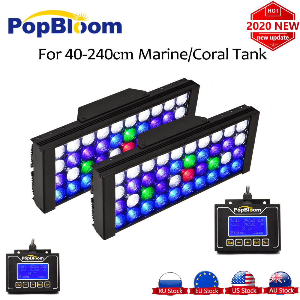 PopBloom Led Aquarium Lamp Marine Aquarium Lights Reef Aquarium Fish Tank Light Lighting Led Light For Aquarium Tank