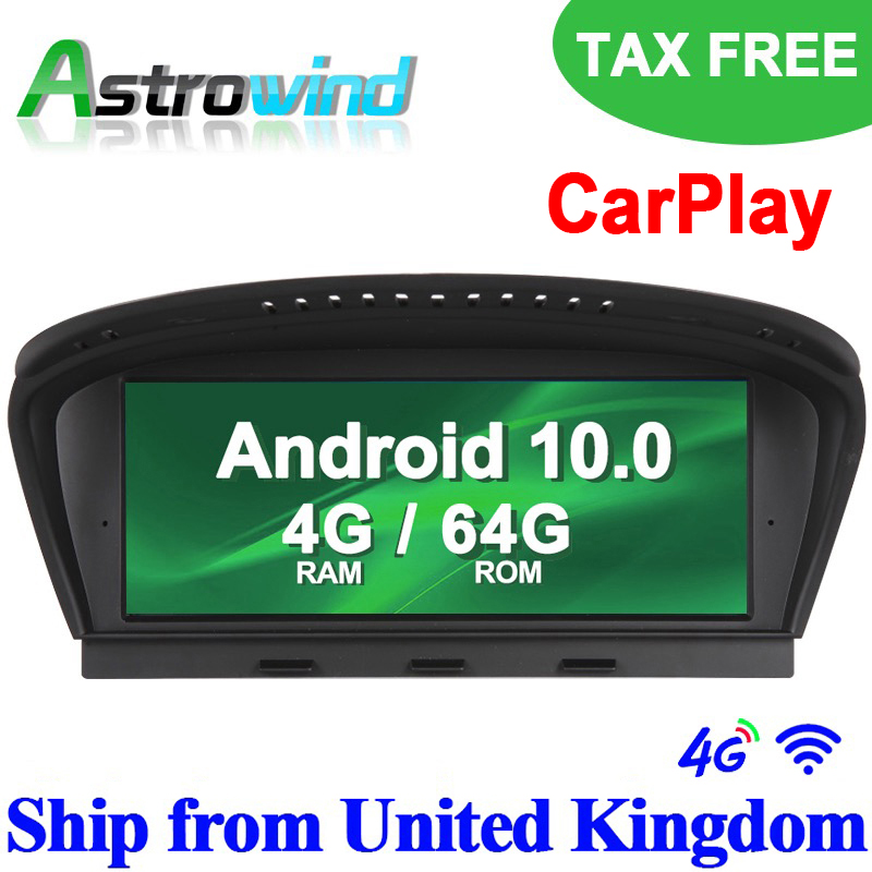8.8 inch 4G RAM 64G ROM Android 10.0 Auto Player <font><b>GPS</b></font> Navigation Multimedia Player For BMW 3 Series <font><b>E90</b></font> for BMW 5 Series E60 CCC image