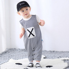 Romper Jumpsuit Toddler Baby Kids Fashion Newborn Boys Striped Summer Buttons Sleeveless