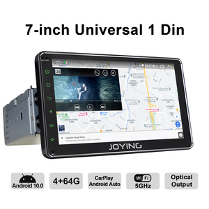 """Image 3 - Universal 1din android car radio GPS reproductor multimedia Android 10,0 HD 7 """"coche Unidad 4GB + 64GB con 5G WIFI/4G Carplay BT 5,1"""