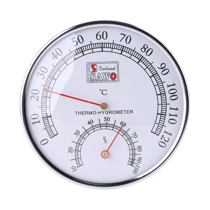 Sauna Thermometer Metal Case Steam Sauna Room Thermometer Hygrometer Bath And Sauna Indoor Outdoor Used C90a Bright In Colour