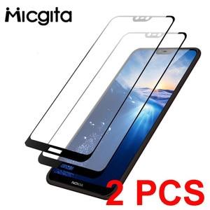 Image 1 - กระจกนิรภัยสำหรับ Nokia 6.1 8.1 7.1 5.1 2.1 3.1 Plus Nokia 2.2 3.2 4.2 หน้าจอป้องกันสำหรับ nokia 6.1 7.1 ฟิล์ม