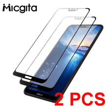 Tempered Glass For Nokia 6.1 8.1 7.1 5.1 2.1 3.1 Plus Nokia 2.2 3.2 4.2 Screen Protector Protective Glass For Nokia 6.1 7.1 Film
