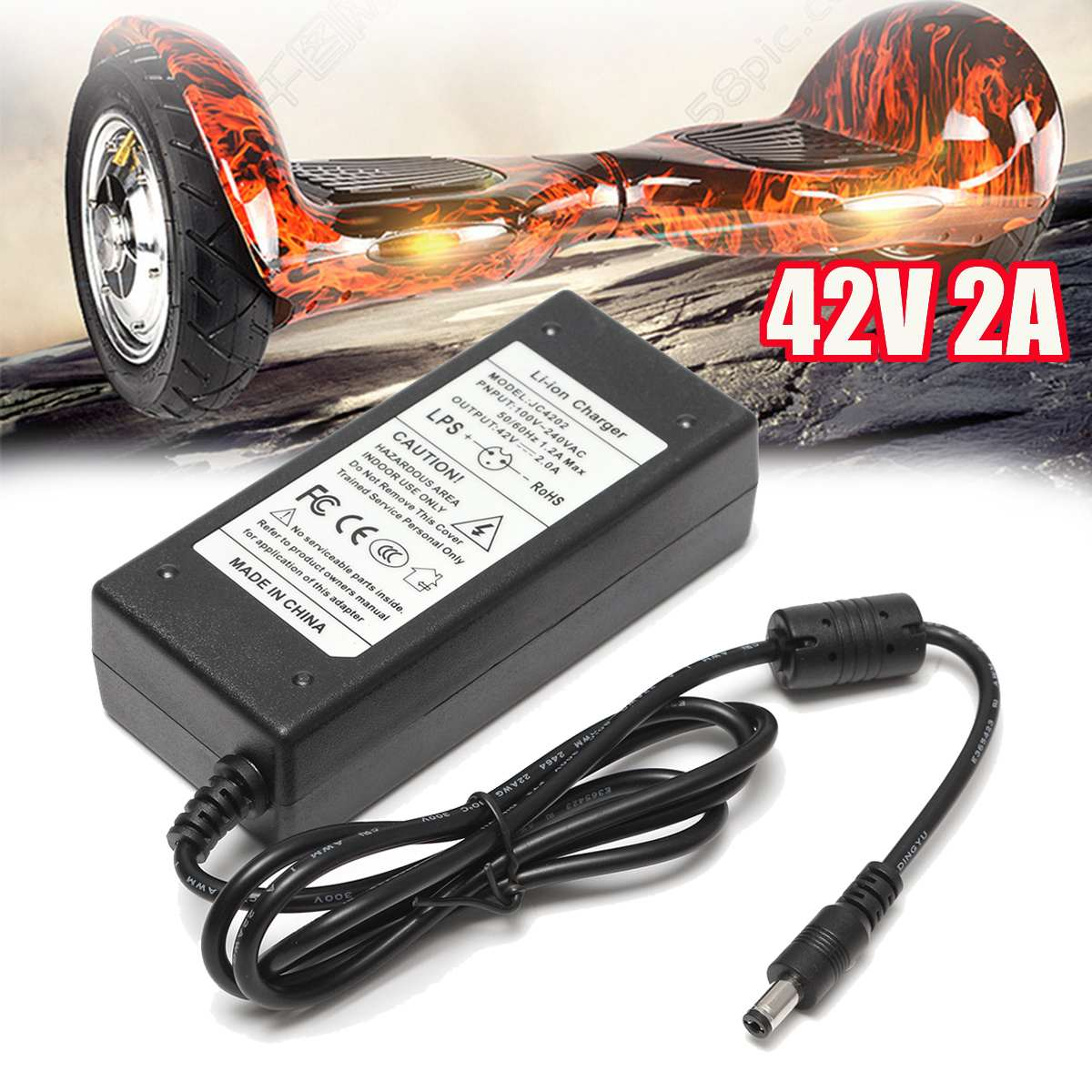 2A 42V Power Charger Adapter For 36V Li-ion Lithium Battery Two-wheel Vehicle Battery Chargers