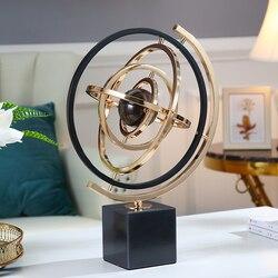3D sistema Solar de mármol Material globos de luz de lujo intercambiable globo miniatura modelo de oficina en casa adorno Mejores Regalos para amigos
